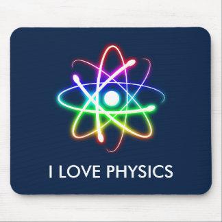 I LOVE PHYSICS - dark blue mousepad
