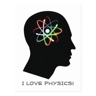 I LOVE PHYSICS   Geek Postcard