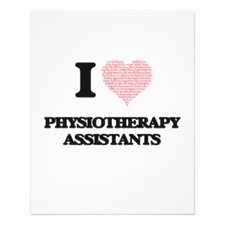 I love Physiotherapy Assistants (Heart made from w 11.5 Cm X 14 Cm Flyer