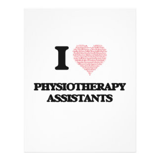 I love Physiotherapy Assistants (Heart made from w 21.5 Cm X 28 Cm Flyer