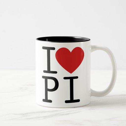 I LOVE PI COFFEE MUG