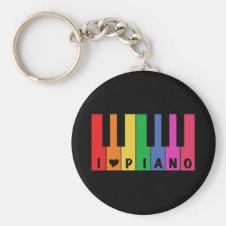 I Love Piano Key Ring