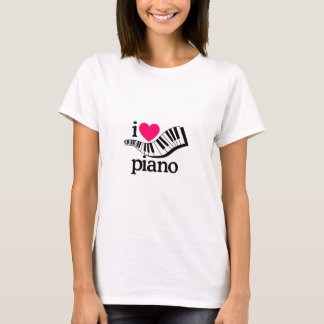I Love Piano/Keyboard T-Shirt
