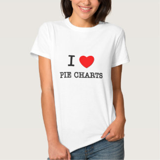 I Love Pie Charts T-shirts