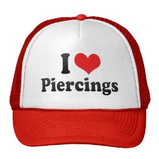 I Love Piercings Mesh Hat