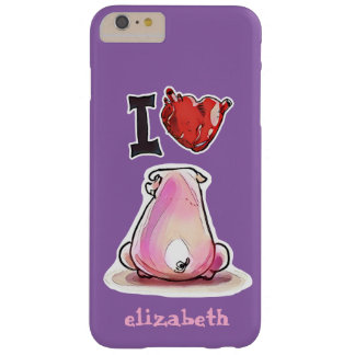 i love pig customizable cartoon barely there iPhone 6 plus case
