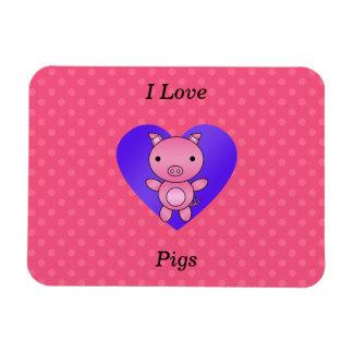 I love pig pink polka dots vinyl magnets