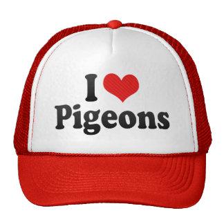 I Love Pigeons Cap