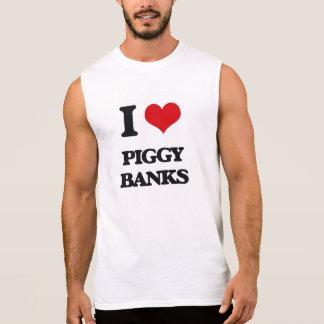 I love Piggy Banks Sleeveless Tee