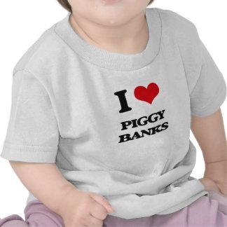 I love Piggy Banks Tshirts