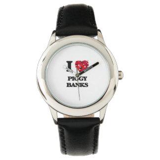 I love Piggy Banks Wristwatch