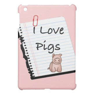 I Love Pigs (notebook page) iPad Mini Covers