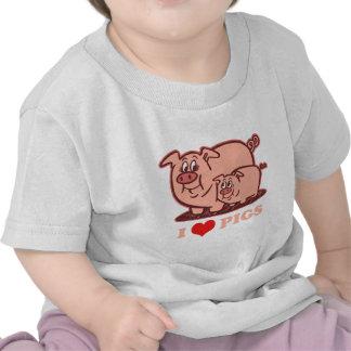 I Love Pigs Tees