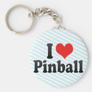 I Love Pinball Key Ring