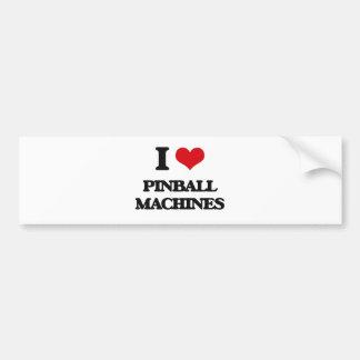 I Love Pinball Machines Bumper Stickers