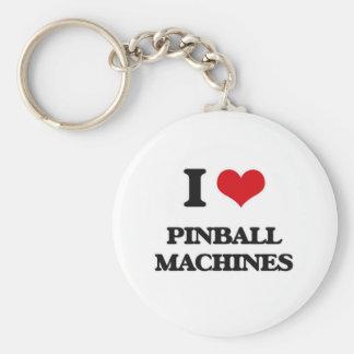 I Love Pinball Machines Key Ring