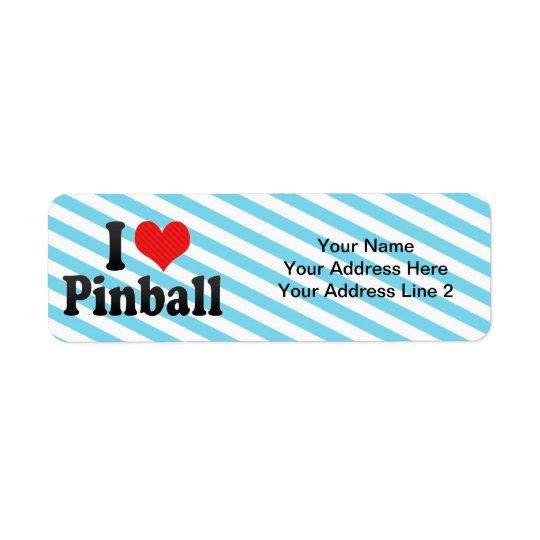 I Love Pinball Return Address Label