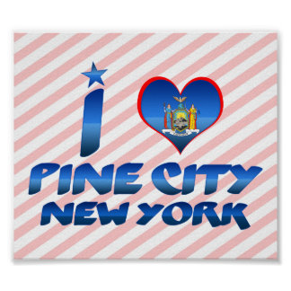 I love Pine City, New York Posters