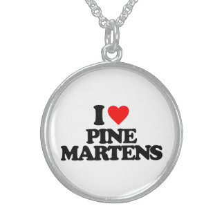 I LOVE PINE MARTENS PERSONALIZED NECKLACE