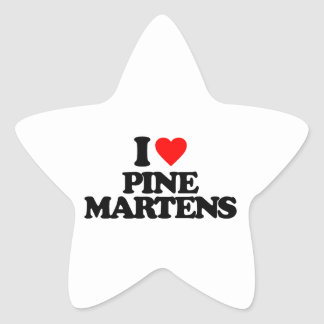 I LOVE PINE MARTENS STICKER