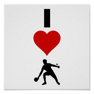 I Love Ping Pong (Vertical) Poster