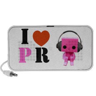 I love PINK ROBOT! Notebook Speaker