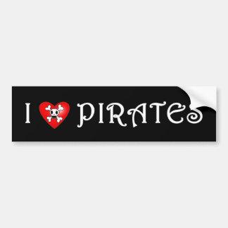 I Love Pirates (2) Bumper Sticker