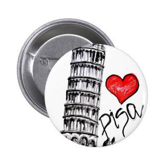 I love Pisa 6 Cm Round Badge