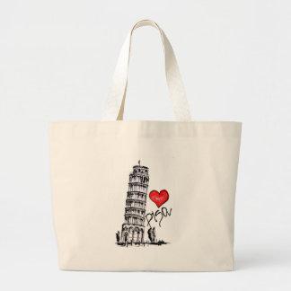 I love Pisa Large Tote Bag