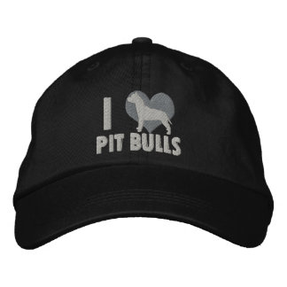 I Love Pit Bulls Embroidered Hat