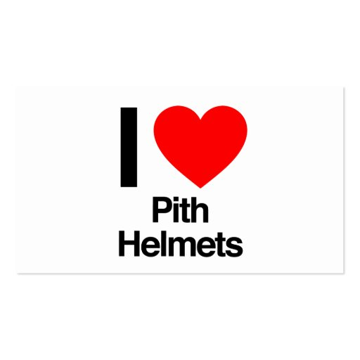 i love pith helmets business cards