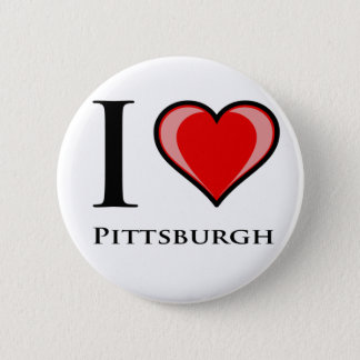 I Love Pittsburgh 6 Cm Round Badge