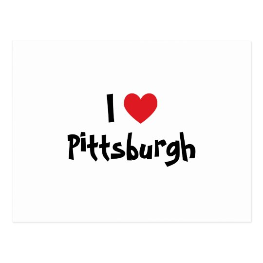 I Love Pittsburgh Postcard