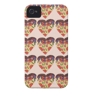 i love pizza Case-Mate iPhone 4 cases
