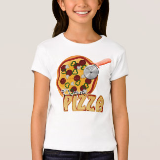 I Love Pizza - Girls Baby Doll (Fitted) T-Shirt