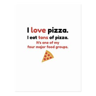 I love pizza. I eat tons of pizza Postcard