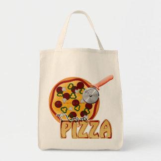 I Love Pizza - Organic Grocery Tote