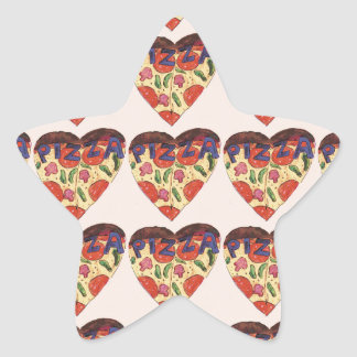 i love pizza star sticker