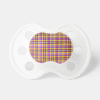 I Love Plaid- Colorful Pacifiers