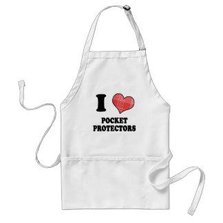 I Love (Plaid Heart) Pocket Protectors Standard Apron