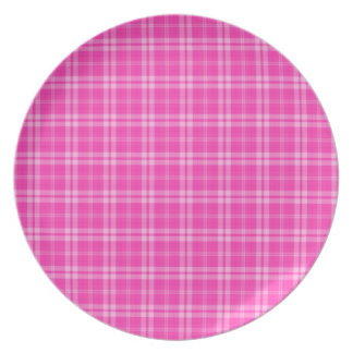 I Love Plaid- Pink Party Plate