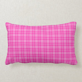 I Love Plaid- Pink Throw Pillow