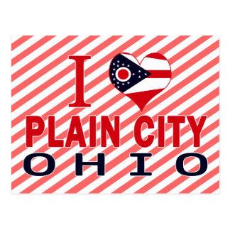 I love Plain City, Ohio Post Card