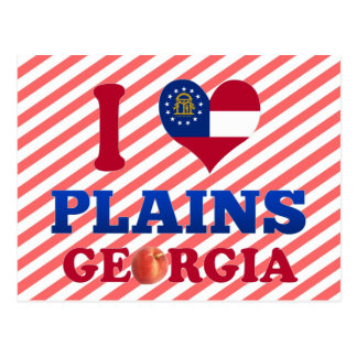 I Love Plains, Georgia Post Cards