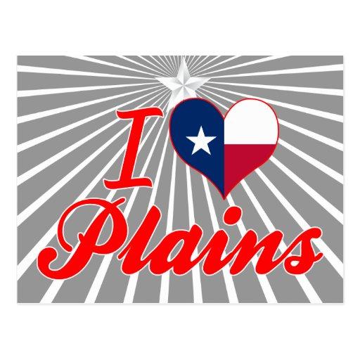 I Love Plains, Texas Postcards