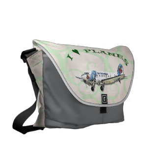 I Love Planes - Dakota DC3 Messenger Bag