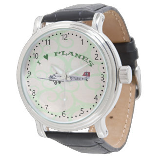 I Love Planes - Junkers JU-52 Numbers and minutes Watch