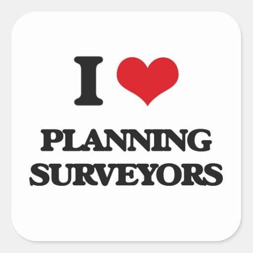 I love Planning Surveyors Sticker