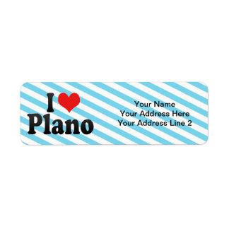 I Love Plano Return Address Label