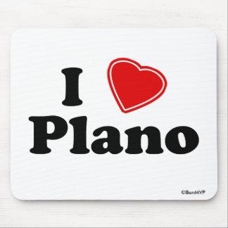 I Love Plano Mouse Pad